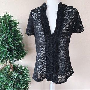 NEW Fashion Nova Lace Blouse •1X